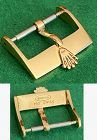 Vintage ROLEX 16mm Logo Buckle 18k YELLOW GOLD ROLEXSA .750 SWISS