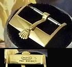 Vintage Rolex 18mm Logo Buckle 14k GOLD Genuine ALLIGATOR