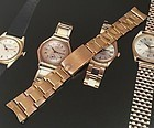 Rolex 19mm 18k ROSE GOLD Deployment Rivited Link Bracelet C: 1971