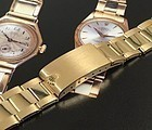 Rolex 18k Yellow Gold 20mm Oyster Riveted Link Bracelet 1972 RARE