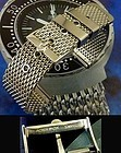 OMEGA 20mm MESH METAL Strap 18mm Logo Buckle CHRONOGRAPH SERIES