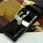 ROLEX DATE SERIES 19mm Black CROCODILE 16mm Steel Buckle