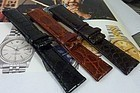 ROLEX Model 20mm CROCODILE 20mm/19mm 3 Colors, Long and Regular size