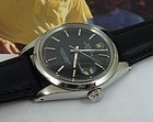 ROLEX Oyster Perpetual DATE Stainless Steel Leather Strap Ref. 1500