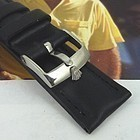 ROLEX 16mm Stainless Logo Buckle 19mm DATE Swiss Leather Strap