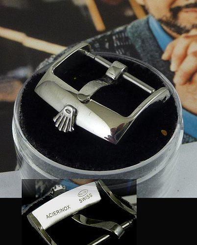 ROLEX 16mm Steel Logo Buckle ACIERINOX ROLEXSA SWISS Laser marked