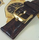 ROLEX 18mm Logo Buckle 20mm AFRICAN CROCO BROWN Strap