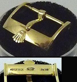 Vintage ROLEX 18mm 18k Yellow Gold Plate ACIERINOX ROLEXSA Swiss