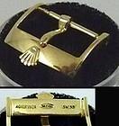 Vintage ROLEX 16mm 18k Yellow Gold Plate ACIERINOX ROLEXSA Swiss