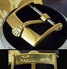ROLEX 16mm Logo Buckle 18k YELLOW GOLD Plate ROLEXSA PLAQUE Swiss