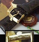 ROLEX 16mm Yellow Logo Buckle 19mm Tobacco CROCODILE