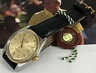 ROLEX Men's DATEJUST Two-Tone 14k/Stainless Non-Quick Set