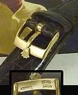 ROLEX 16mm Logo Buckle 18k Gold Plate 20mm Tobacco CROCODILE