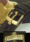 ROLEX 16mm Logo Buckle 18k Gold Plate 19mm Tobacco CROCODILE