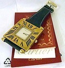 CARTIER TANK 50mm Rectangular Enamel figures Converted to the wrist