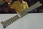 "Rolex 20mm Stainless JUBILIEE Deployment with ""55"" on end links 1968"