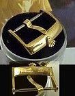 ROLEX 18mm Yellow 18k Gold Plate Logo Buckle Lazer Imprinted