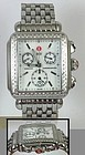 MICHELLE Deco Chronograph Diamond Dial Diamond Bracelet Watch