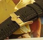 Rolex 16mm Gold Logo Buckle 20mm Brown Genuine Lizard TOBACCO Color