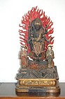 Figure group of Shomen Kongo and attendants, Japan, Edo