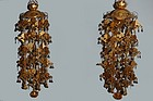 Pair of gilt bronze altar decorations, Japan, 20th c.
