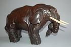 Sculpture of elephant, wood, Japan, 19th century