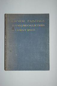 Book: Laurence Binyon, Chinese Paintings, 1927
