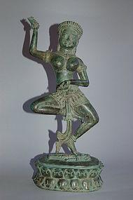 Dancing Dakini, bronze sculpture, Bayon style