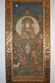 Scroll, Benzaiten, Japan Muromachi per., ca. 1500