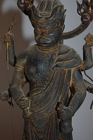 Wood statue, Shomen Kongo, Japan, Edo per, early 19th c