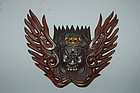 Maedate, helmet ornament, Aizen  Myoo, Japan, 20th c.