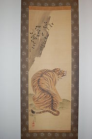 Painting, tiger, Takayoshi, Japan, 19th century
