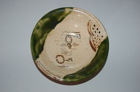 Stoneware serving dish, Oribe ware, Japan 20th century