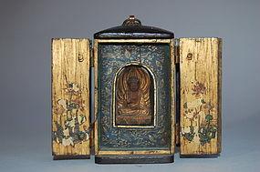 Zushi hand shrine, Buddha Amida, Bodhisattva, Japan Edo period