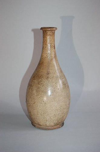 Sake bottle, stoneware, Mino, Seto, Japan, 18th century