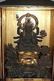 Zushi with Benten, Daikoku, Bishamon, Japan 18th c.