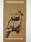 Scroll painting, Daruma, sumie, Japan 19th c.
