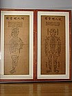 Two acupuncture charts, Korea 19th c.