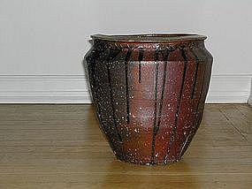 Large jar, stoneware, Tamba, Japan 18/19th c
