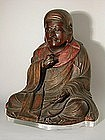 Figure of Daruma, lacquered wood, Japan 19th century