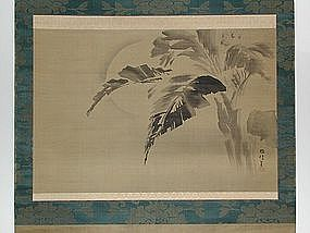 Scroll, banana tree, Kano Yosenin, Japan, 18th c.