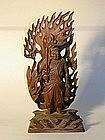 Wooden sculpture of Fudo Myoo, Japan, Meiji period