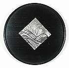 Black lacquer dish, Japan, around 1990