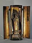 Zushi with sculpture of Amida Buddha, Japan, 19th c.