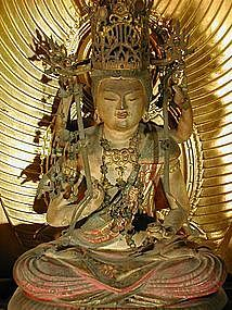 Zushi with sculpture of a bodhisattva, Japan, Edo per.