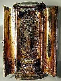 Zushi, eleven headed Kannon, wood, Japan, Edo period