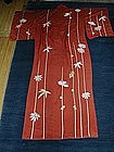 Silk kimono with flower design, Japan, mid 20th century