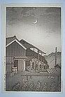 Kawase Hasui, shin hanga, potter�s house, Japan, 1934