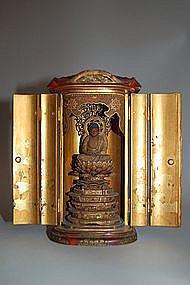 Zushi with figure of Amida Buddha, Japan, 18th century