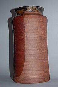 Tall vase, stoneware, Karatsu, Japan, Edo period